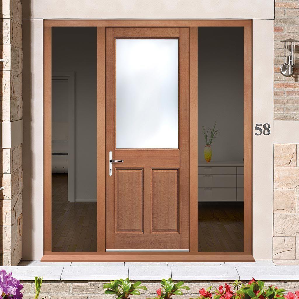 on hardwood double door frame kit