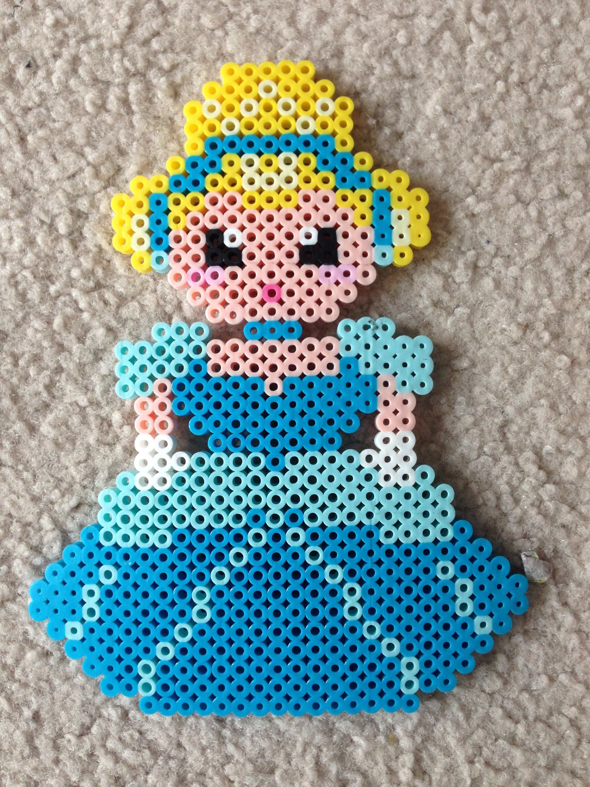 small resolution of cinderella perler beads by amy johnson castro
