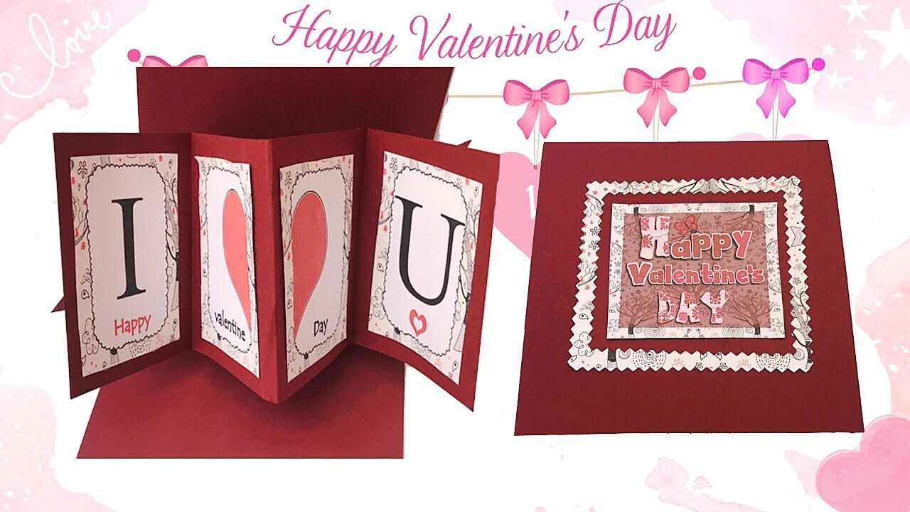 اصنعى بنفسك كارت معايده 3d لعيد الحب Happy Valentine S Day Book Cover Decor Day