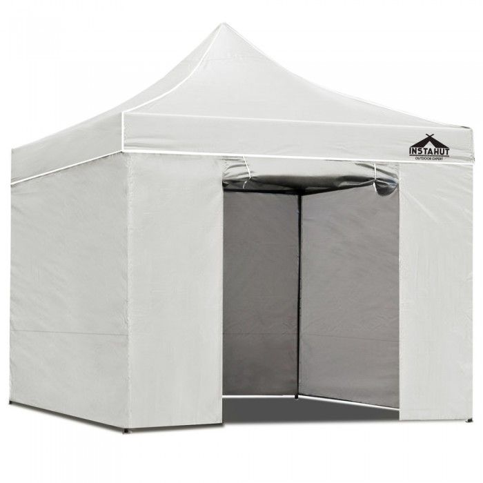 3 x 3 Pop Up Gazebo Hut with Sandbags - White  sc 1 st  Pinterest : canopy hut - memphite.com