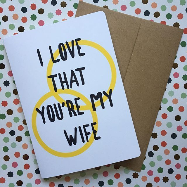 My husband's card for me on our first anniversary! I like ...