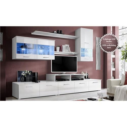 malone un meuble tv bas en panneaux de particules compos s de 4 tiroirs plac s sur roulettes. Black Bedroom Furniture Sets. Home Design Ideas
