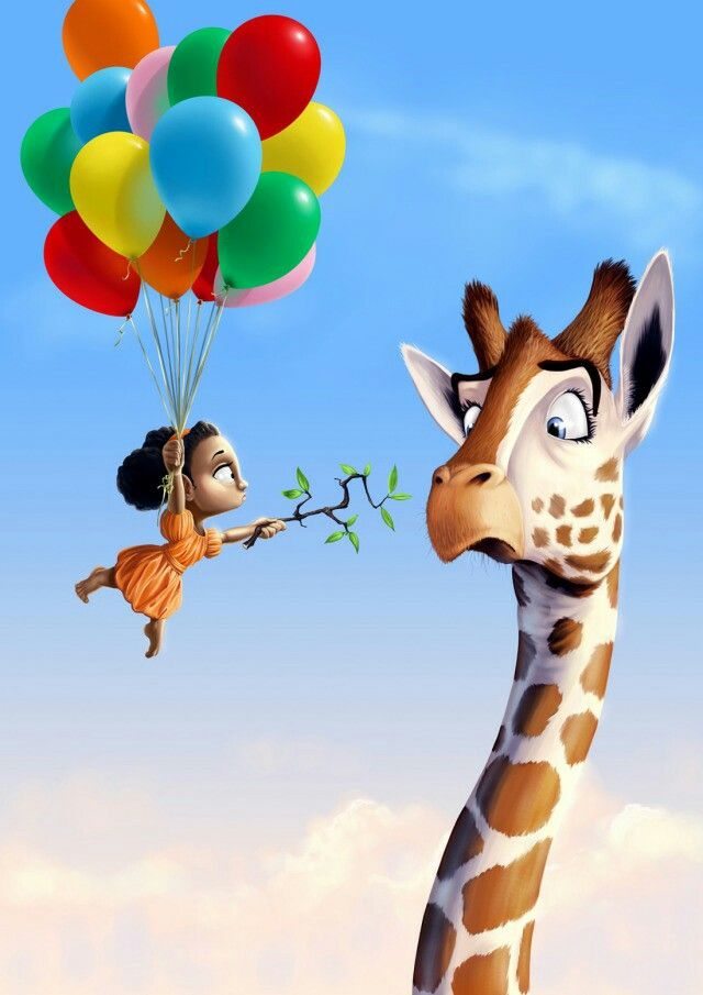 Feeding the giraffe~