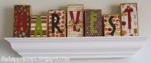: Harvest Blocks - great idea for reusing wooden blocks after unmounting stamps