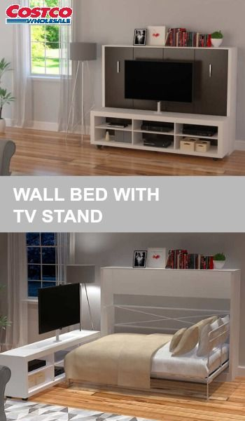 The Avant Garde Full Landscape Wall Bed With Tv Stand Is A Great