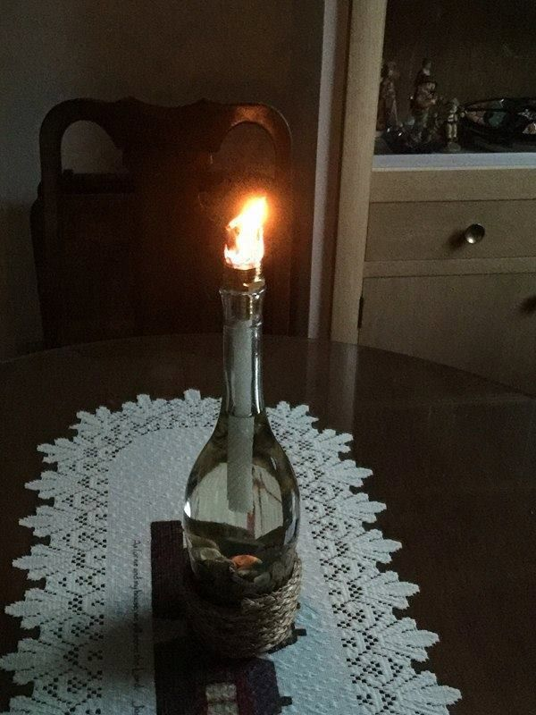 Wine Bottle Tiki Torches by LovefromBeka on Etsy