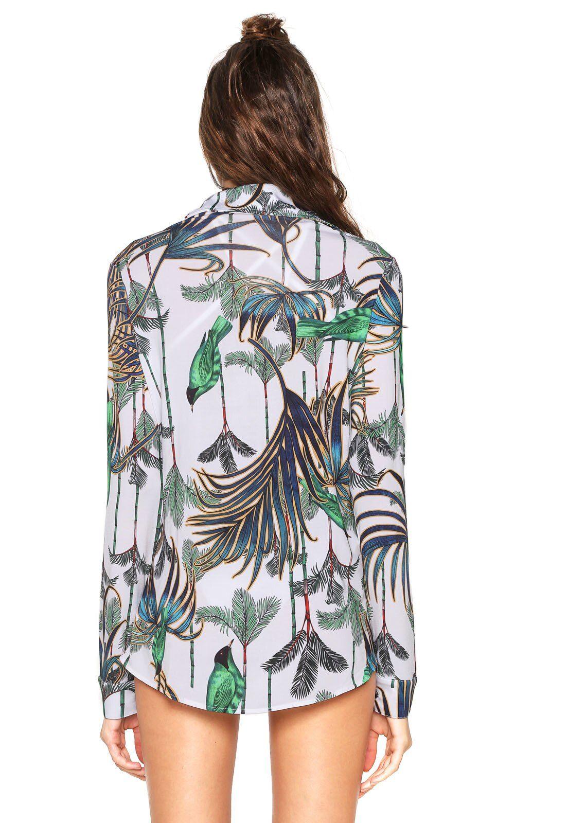 835d88174 Camisa CIA.MARITIMA Javiera Branca/Verde em 2019 | Products | Verde ...