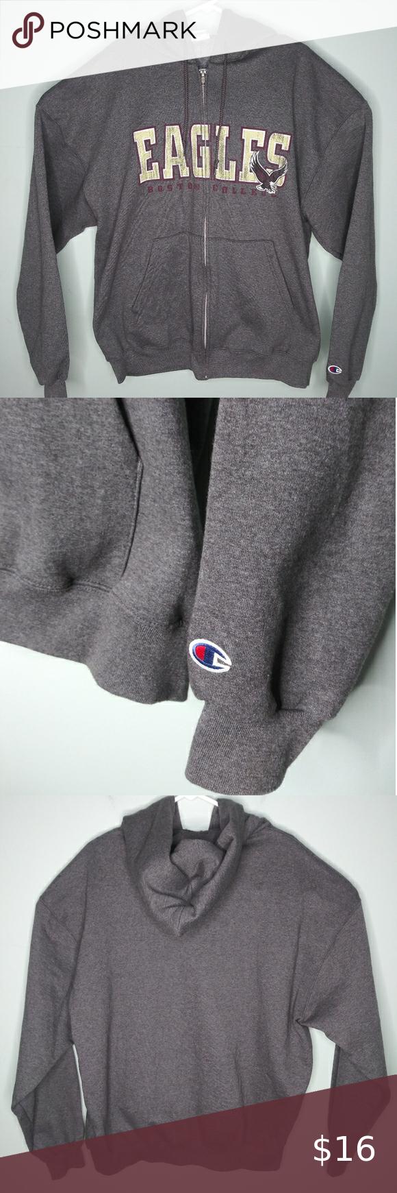 Champion Boston College Eagles Full Zip Hoodie Full Zip Hoodie Sweatshirt Shirt Zip Hoodie [ 1740 x 580 Pixel ]