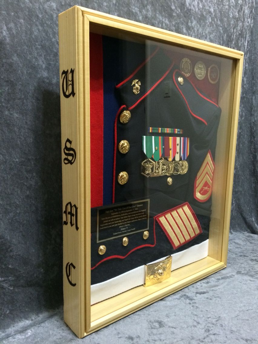 USMC shadow box Questions on design or price contact Lunawood1775 ...