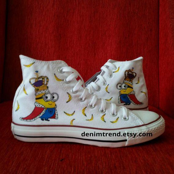 Minion King Bob Shoes | Minion shoes, Converse, Shoes