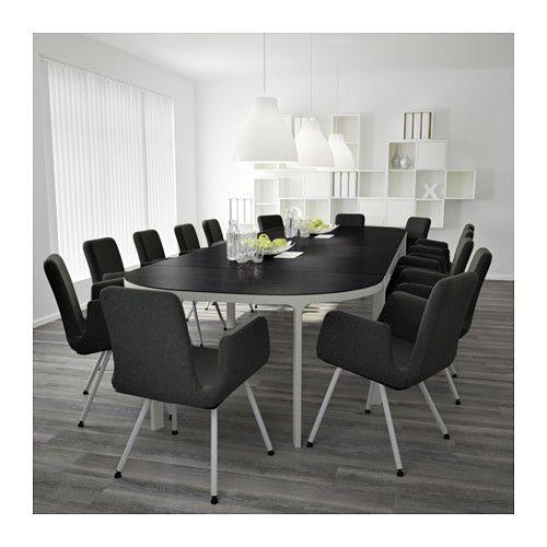 BEKANT Mesa de reuniones - negro-marrón/blanco - IKEA   mobles ...