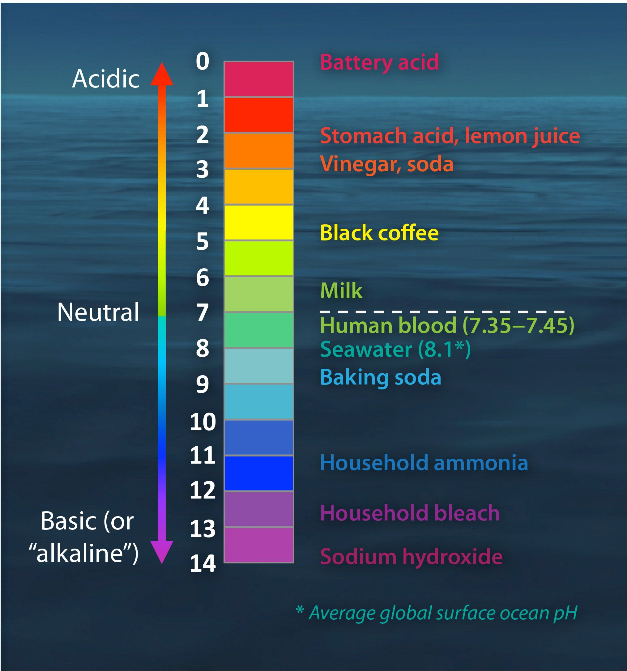 The Ph Scale With Some Common Examples  Conservation