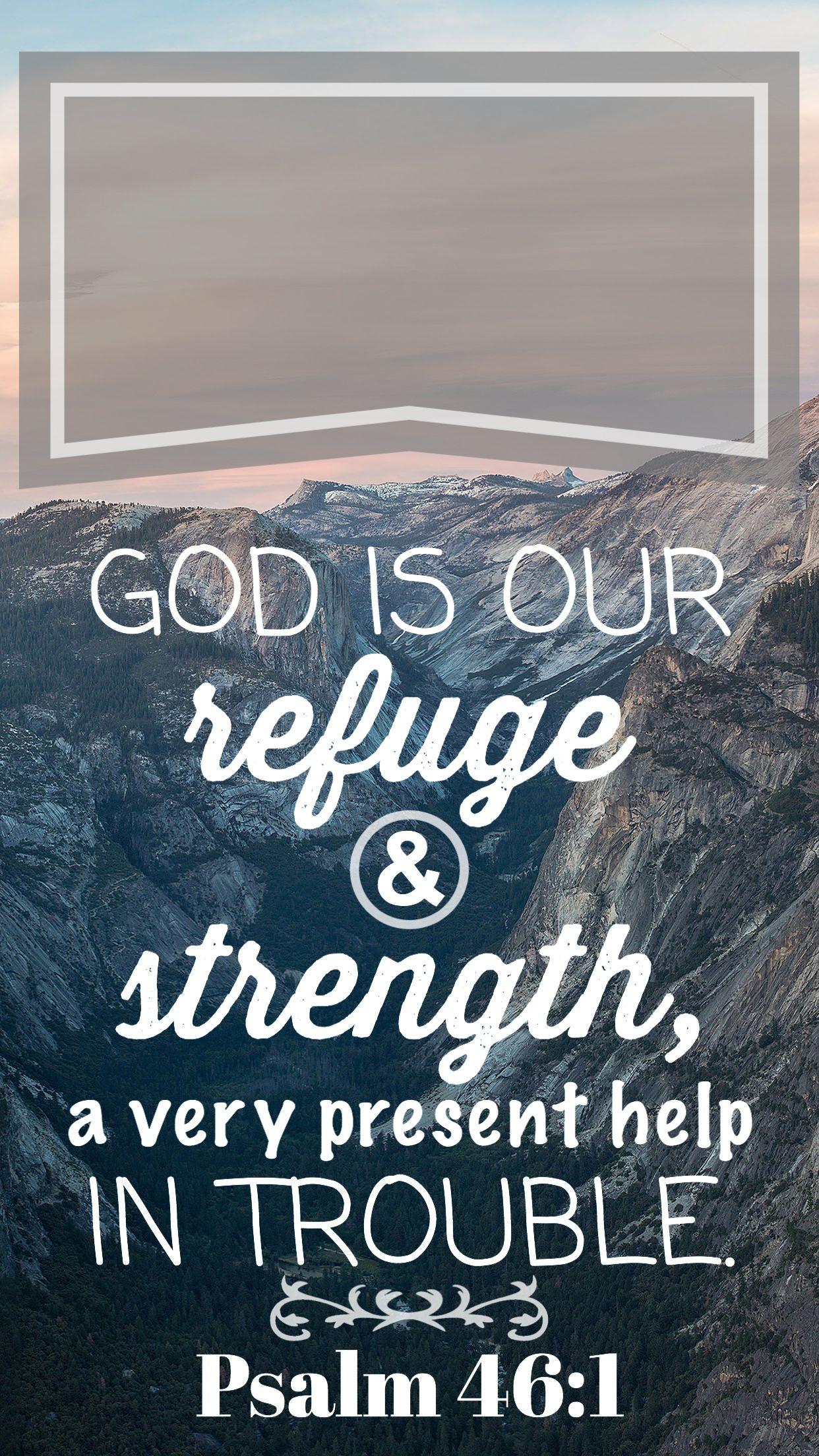 Psalm 461 bible verse, iphone lock screen wallpaper