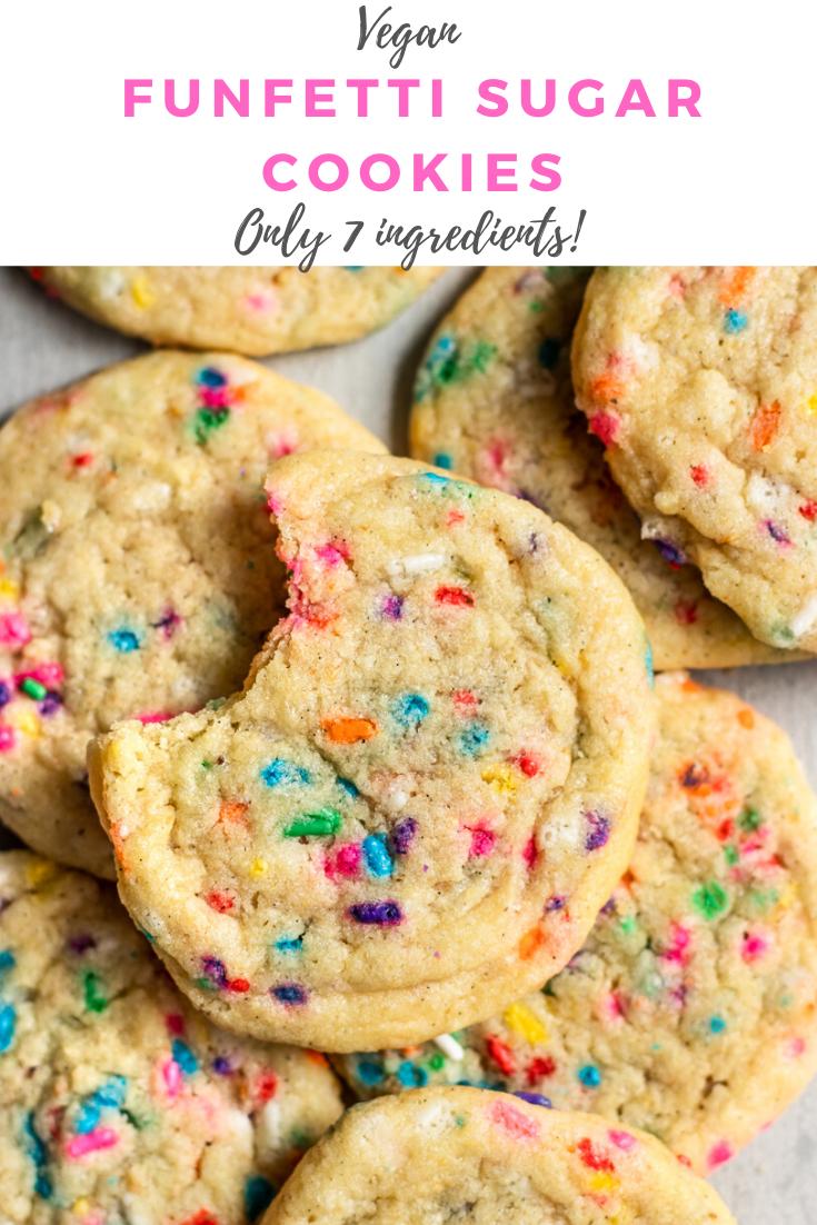 The BEST Vegan Funfetti Cookies -   17 sugar cookie recipe easy 3 ingredients no egg ideas