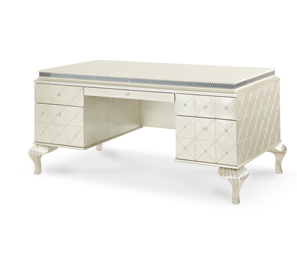 Pearl Caviar Desk Hollywood S Michael Amini Furniture Designs