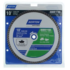 Norton 10 In Wet Dry Turbo Diamond Saw Blade 50515 038 Circular Saw Blades Soft Tiles Concrete Roof Tiles