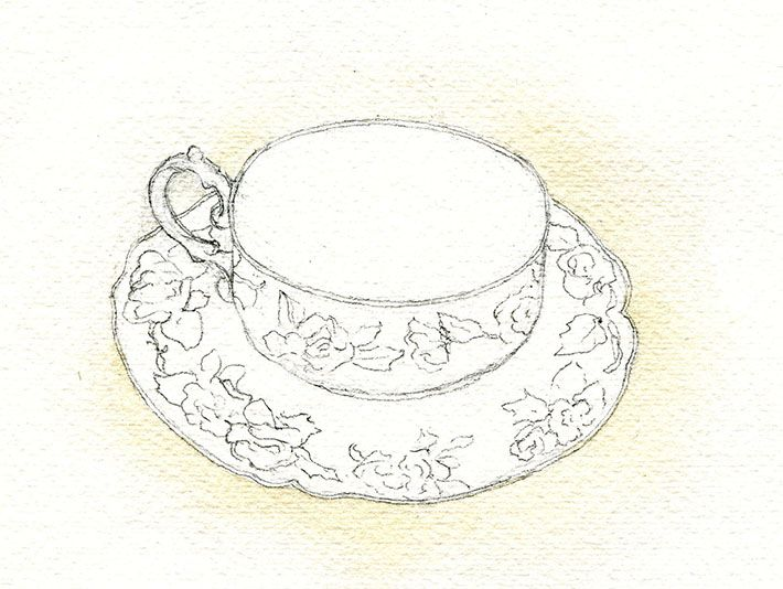 Tea Party: How to Draw a Teacup and Paint Details | Teacup ...