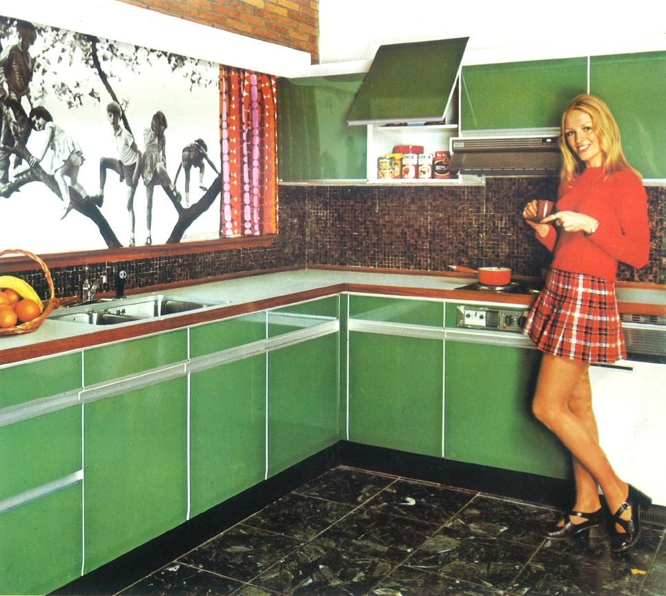 Jaren 70 keuken heppiedeez retro vintage pinterest 70s kitchen kitchens and vintage kitchen - Vintage keukens ...