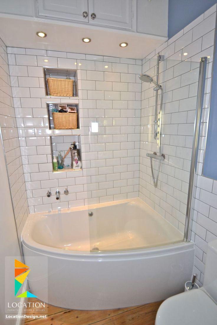 افكار و تصميمات حمامات مودرن صغيرة و بسيطة Bathroom Tub Shower Combo Corner Tub Shower Combo Tiny House Bathroom