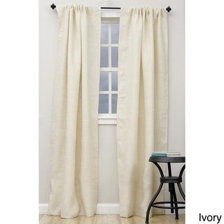 Open Weave Lined Burlap Curtain Panel 42 X 84 84 Inches