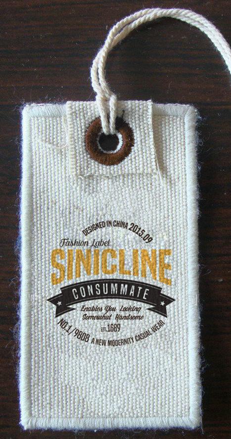 Vintage fabric hang tag with custom printed logo. #hangtag ...