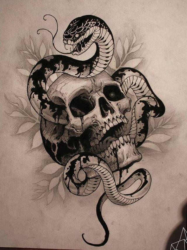 Pin De Deep Em Skull Desenhos Para Tatuagem Conceção De