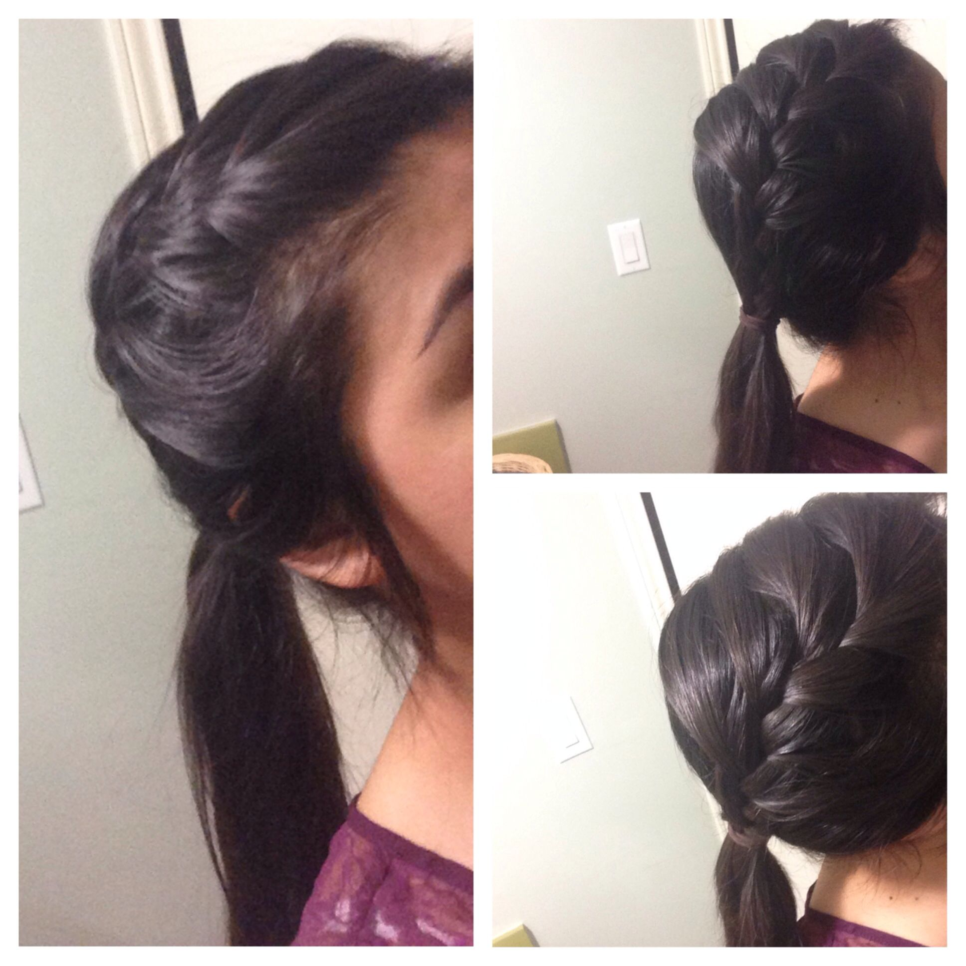 french braid into a ponytail hair pinterest braids