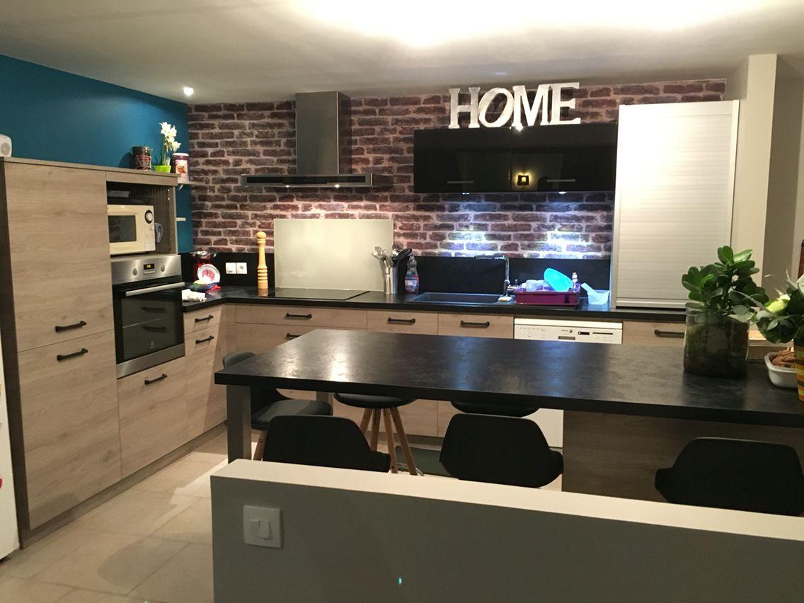 cuisine chabert duval bois flott laque noir cuisines pinterest laque bois et noir. Black Bedroom Furniture Sets. Home Design Ideas