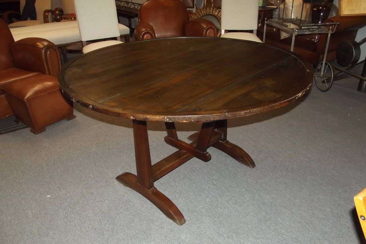 Antique wood dining tables round wine tasting table  tasting table dining room table and wine