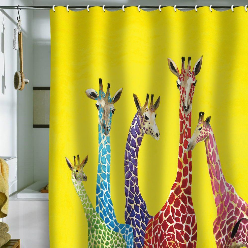 Jellybean Giraffes Shower Curtain, DENY Designs Clara Nilles