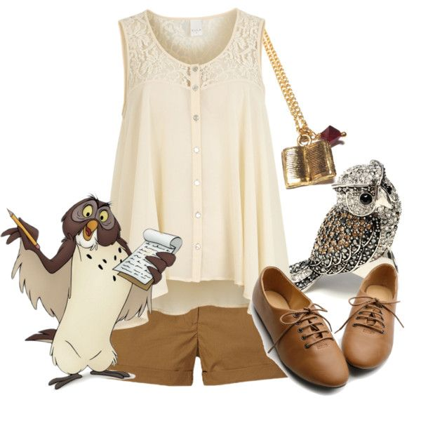 Owl by hopeless-wanderer20016 on Polyvore featuring polyvore, fashion, style, VILA, Scotch & Soda, Ollio, Amrita Singh and winniethepooh