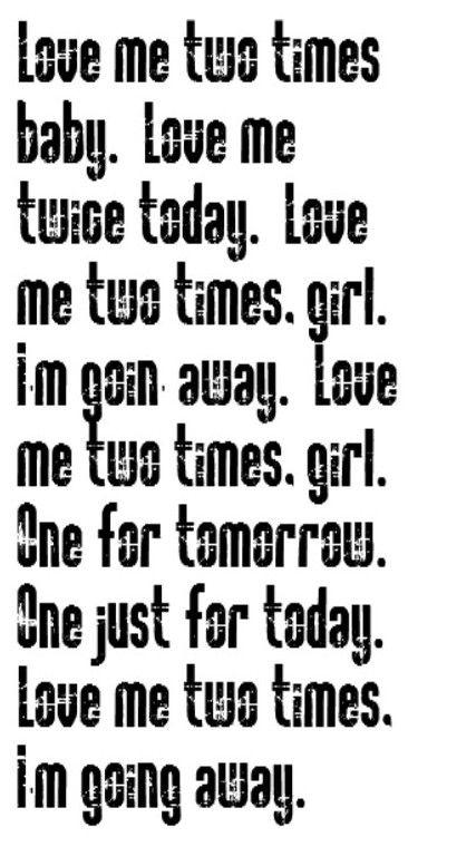 The Doors - Love Me Two Times - song lyrics music lyrics songs