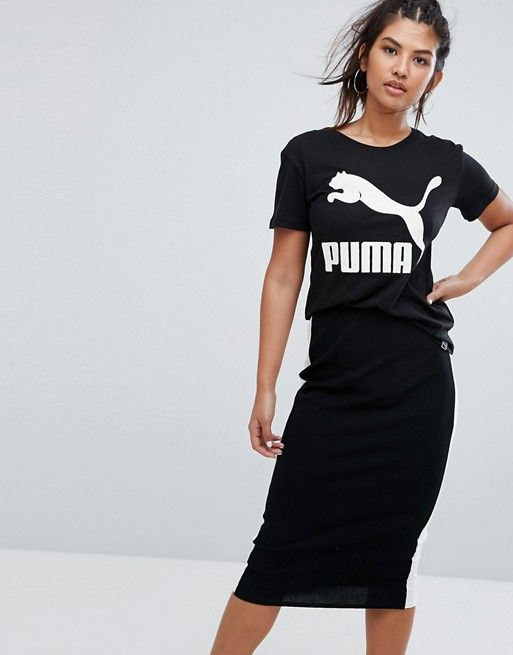 18f36ec7698d Puma Archive Logo Boyfriend Fit T-Shirt In Black