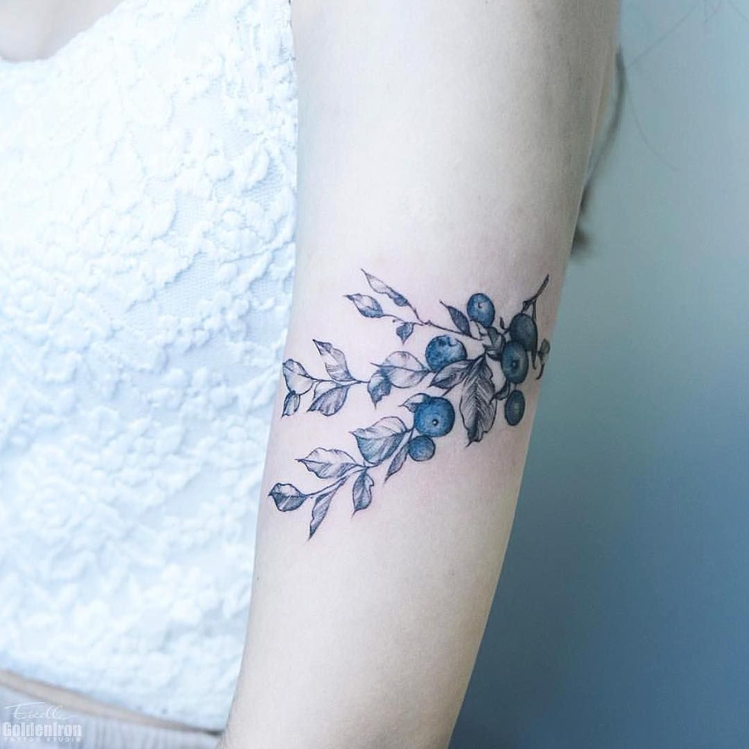 Blueberries By Estelle With Images Subtle Tattoos Tattoos