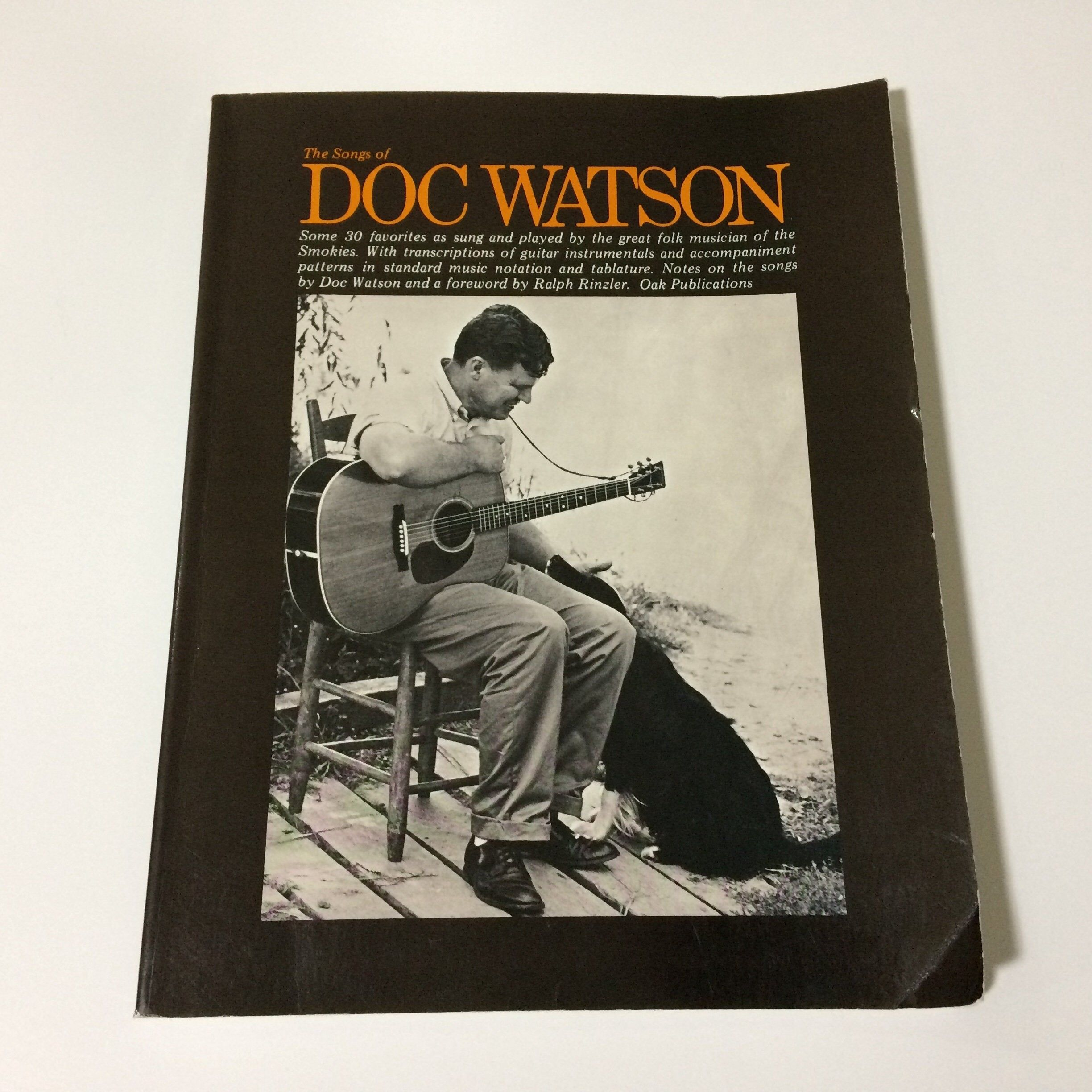 1971 Songs Of Doc Watson Folk Music Book Life Story Pictures