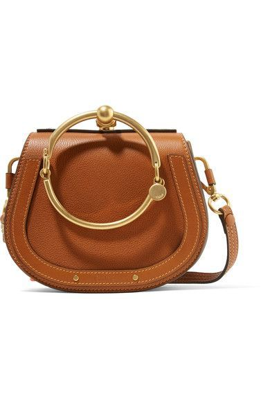 23a4ddca58 Chloé - Nile Bracelet Small Textured-leather And Suede Shoulder Bag - Brown