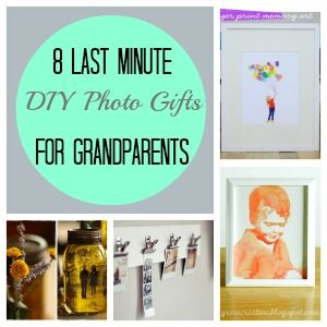 8 Last Minute DIY Photo Gifts For Grandparents | Watercolor ...