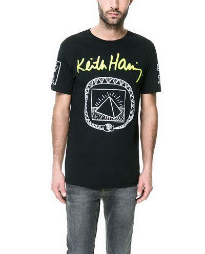 11ca483a ZARA MAN KEITH HARING T-SHIRT | HIS | Mens tops, Zara man, Keith ...