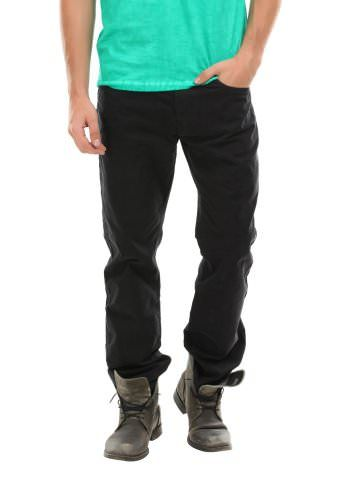 Breakbounce Men Black Craven Regular Fit Chino Trousers