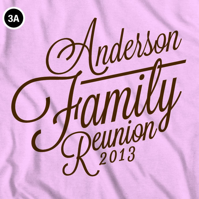 cool customizable family reunion t shirt design