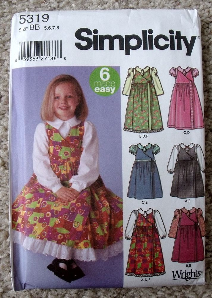 NIP Simplicity 5319 Child's Jumper Blouse Petticoat Sewing Pattern Size 5-8 #Simplicity