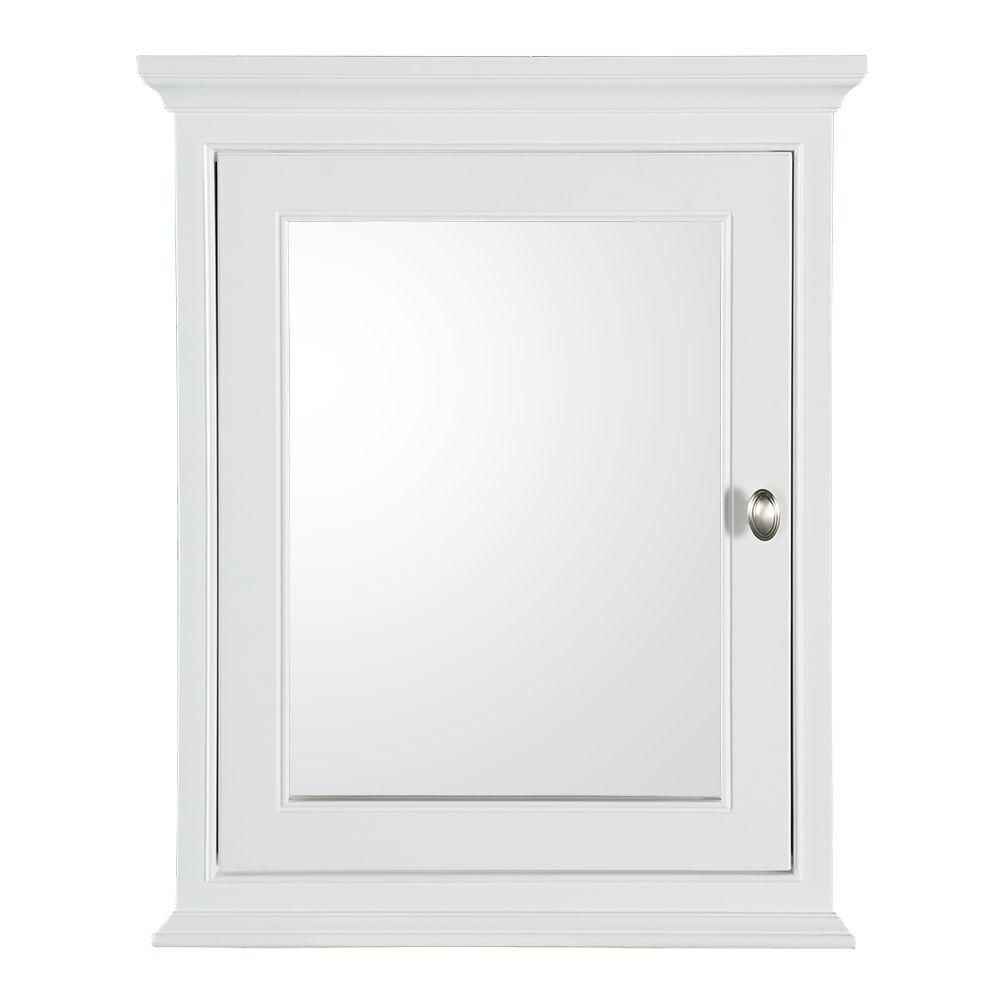 Home Decorators Collection 20 3 4 In W X 25 3 4 In H Fog Free Framed Recessed Or Surface Mount Bathroom Medicine Cabinet In White 45409 In 2020 Surface Mount Medicine Cabinet Bathroom Medicine Cabinet Mirror