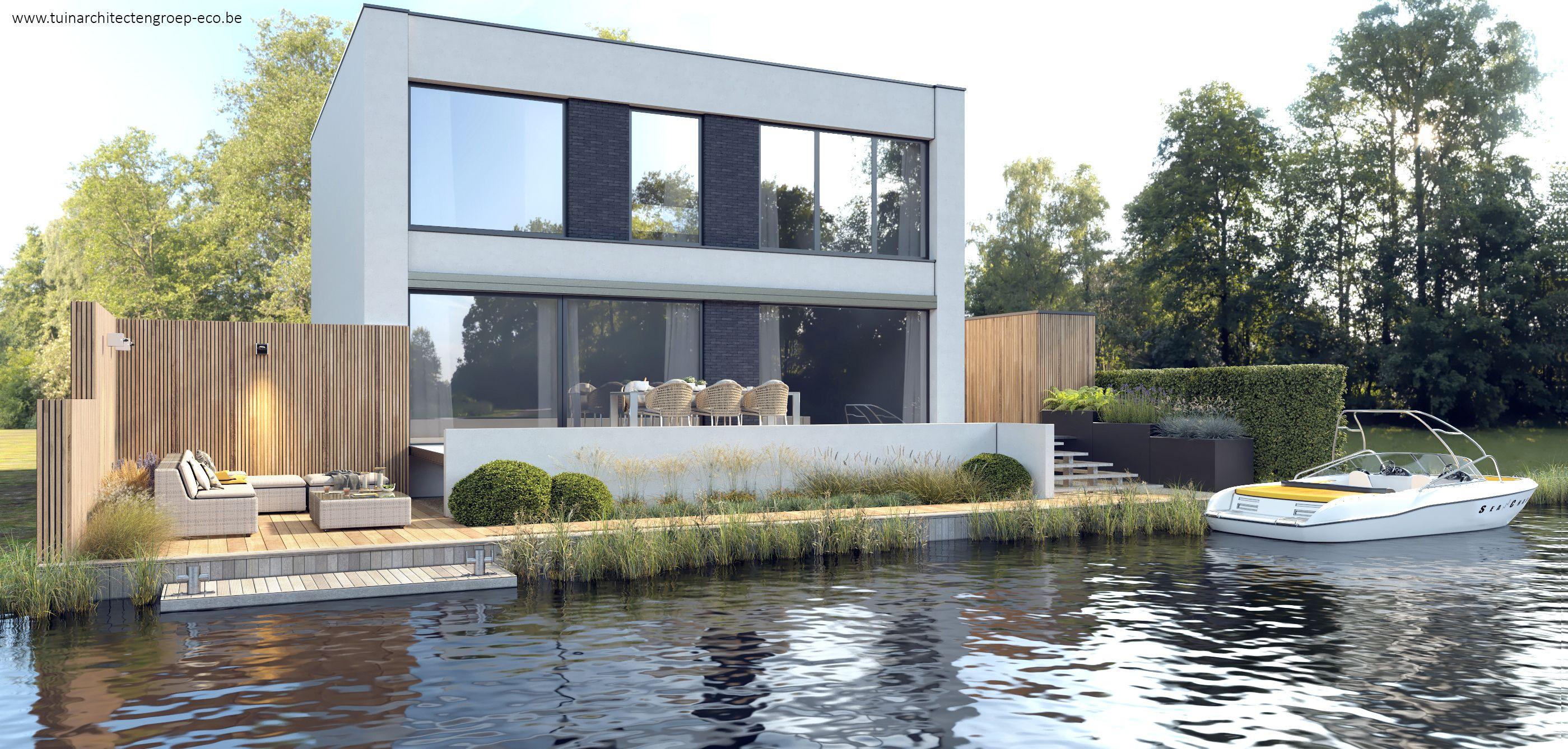 Excellent tuinontwerp d moderne tuin aan donkmeer berlare for Programma tuin ontwerpen 3d
