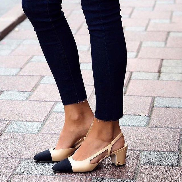 e3e2eb435c9 Spring s Hottest Shoes Chanel Slingbacks  NarrartiveStyleOutfits Lana  Jackson DC Stylist Shop The Look Chanel Slingbacks H M Turtleneck Madewell  10 High ...