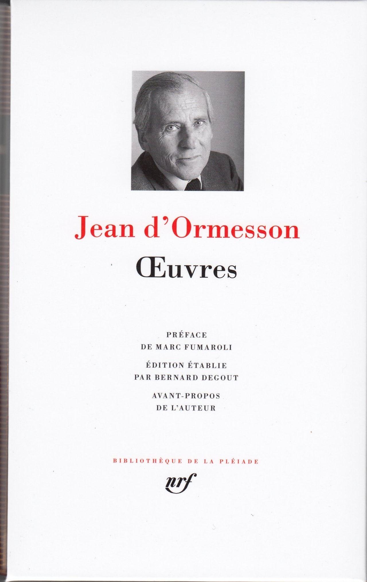 884357 Jpg 1280 2030 Jean D Ormesson La Pleiade Preface