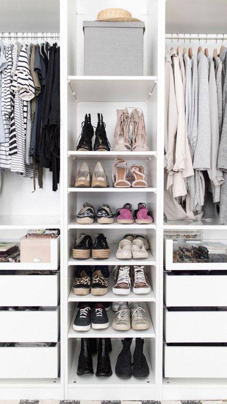 Open Closet Inspiration To Keep Your Wardrobe Super Organized In 2020 Ikea Pax Wardrobe Closet Layout Ikea Pax