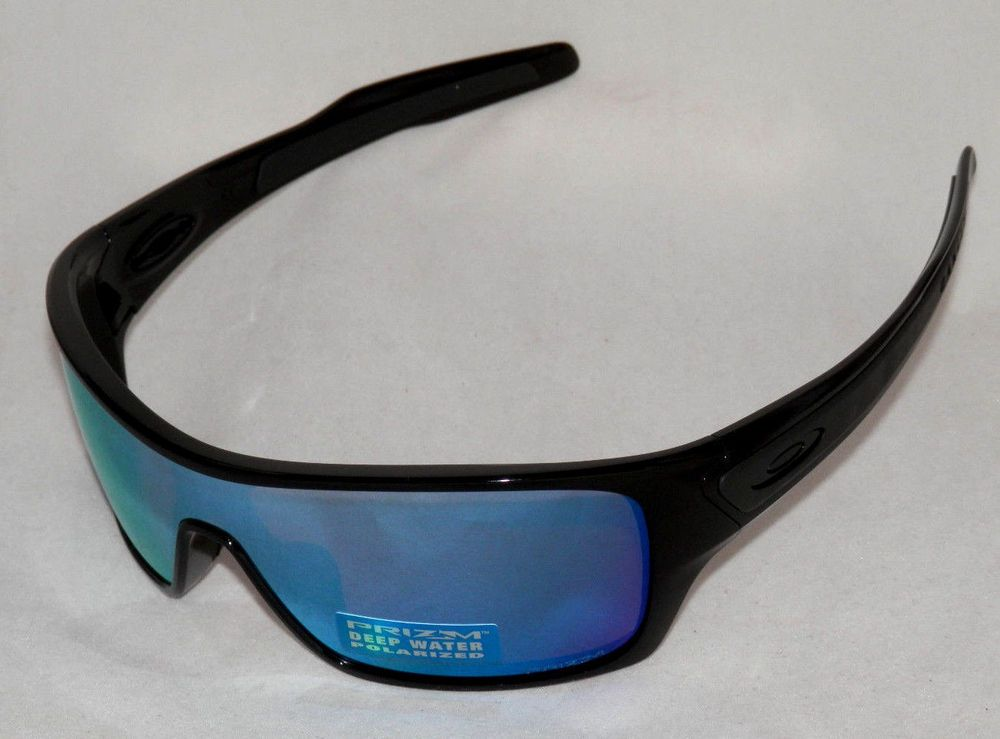 39f9df67876 eBay  Sponsored NEW OAKLEY TURBINE ROTOR OO9307-08 BLACK W  PRIZM DEEP H2O  POLARIZED LENS