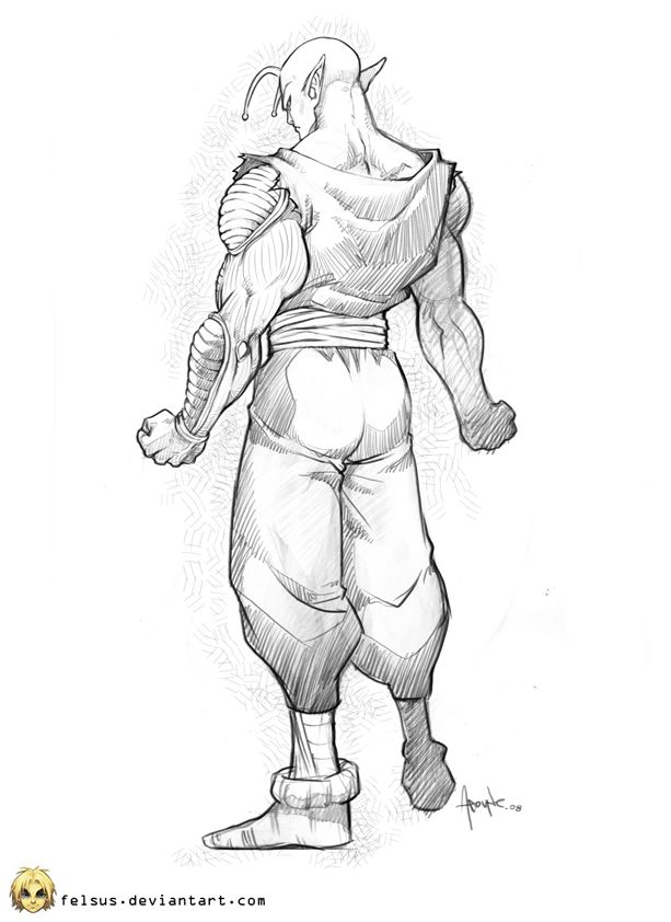 Piccolo Sketch By Felsus On Deviantart