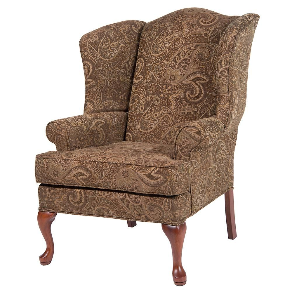 Quality Components Plus Erin Blue Wing Back Chair 7000 04