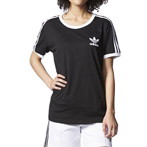 3f0e76e6e7c adidas Originals Womens 3 Stripes Tee BlackWhite L -- Learn more by  visiting the image